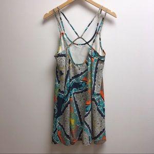 Francesca's small short sleeveless paisley dress